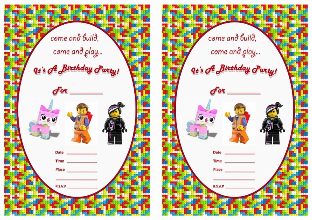 Lego Invitation Free Printables