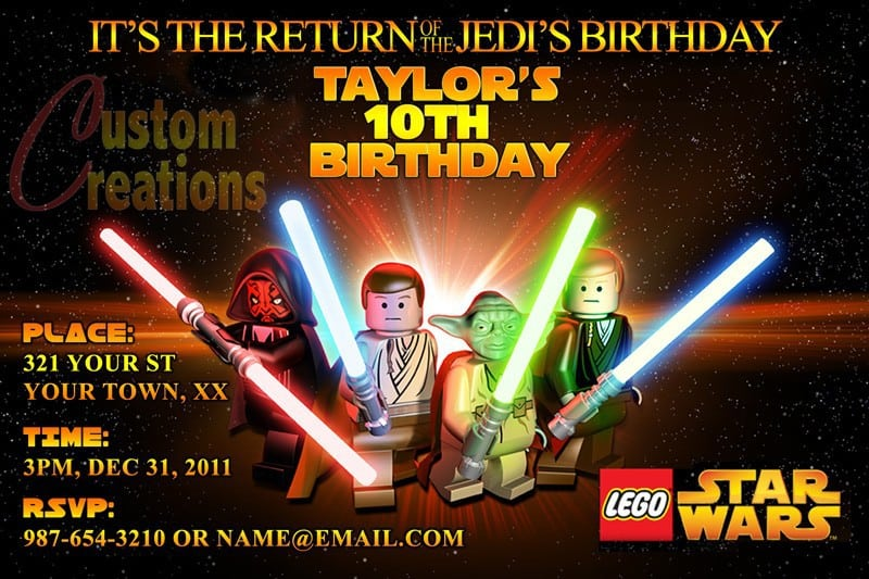 Lego Star Wars Birthday Invitations Free 2015