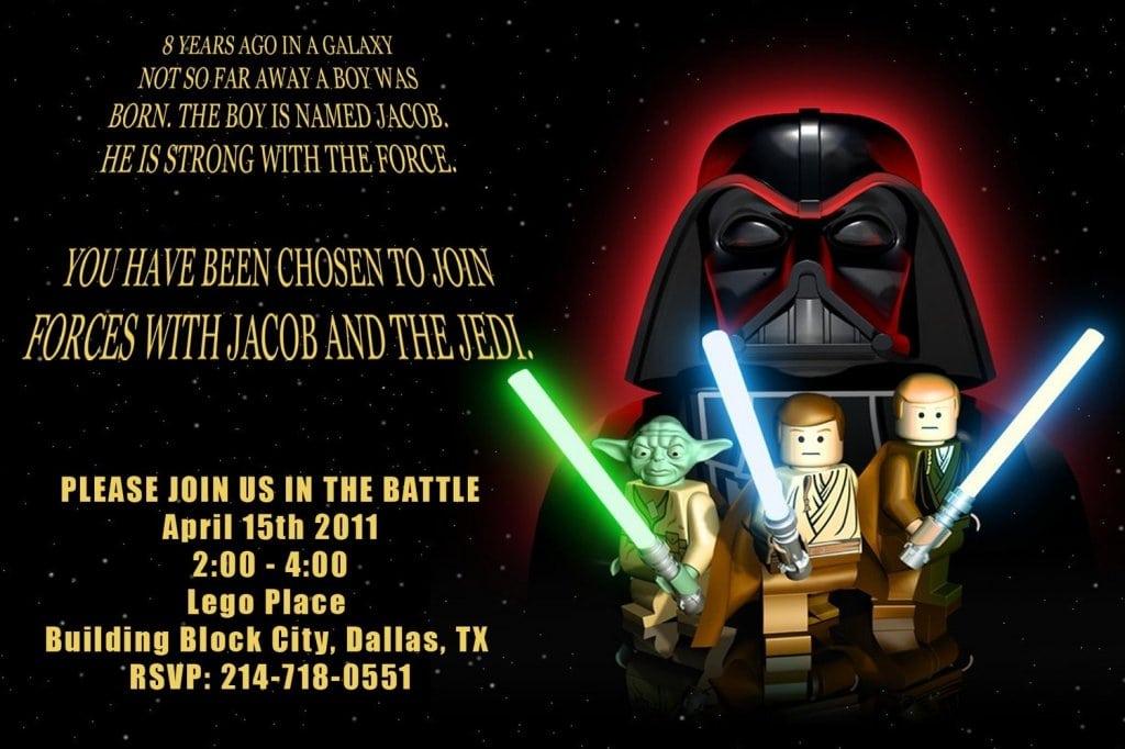 Lego Star Wars Invites Uk