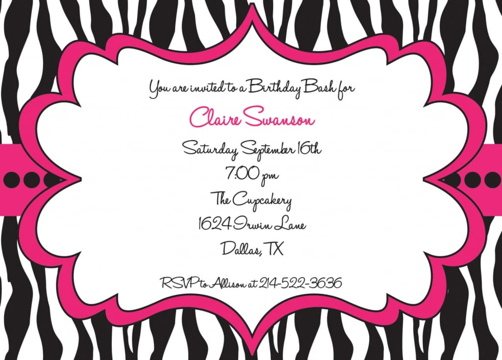Leopard Print Invitation Template Free