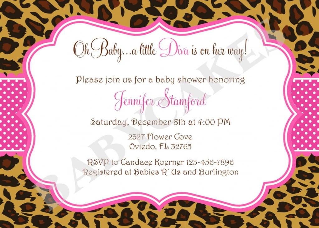 Leopard Print Invitations
