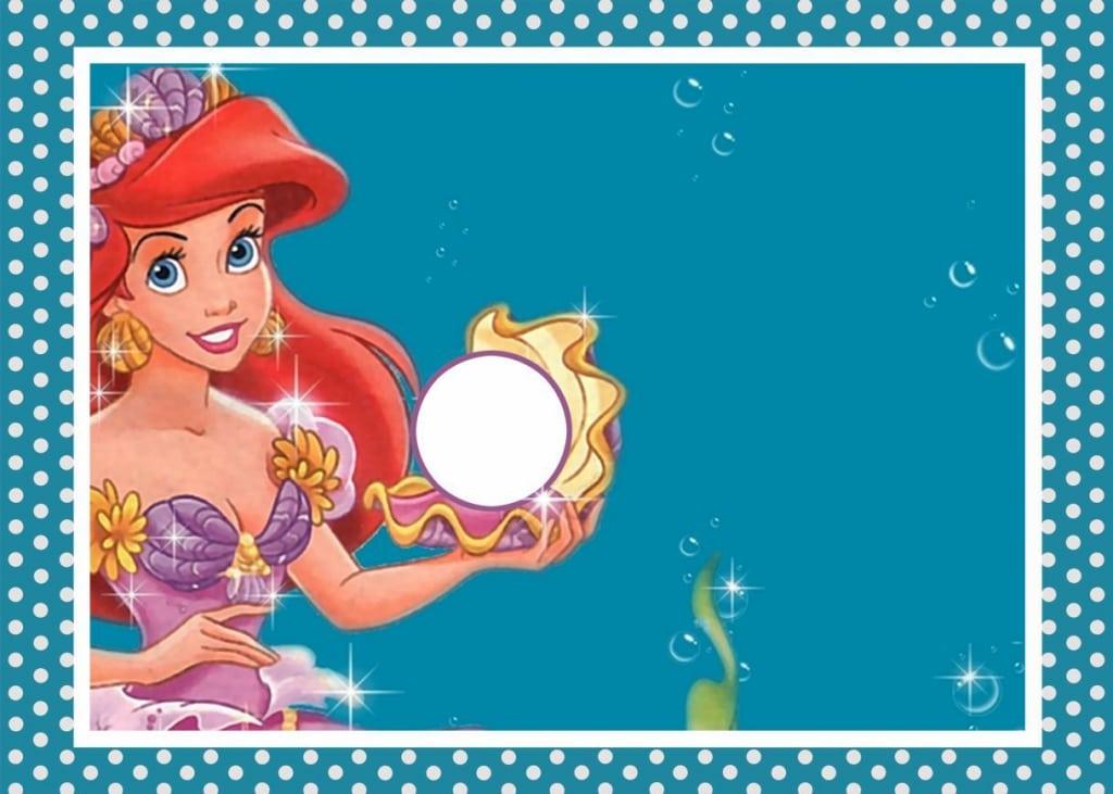 Little Mermaid Blank Invitations