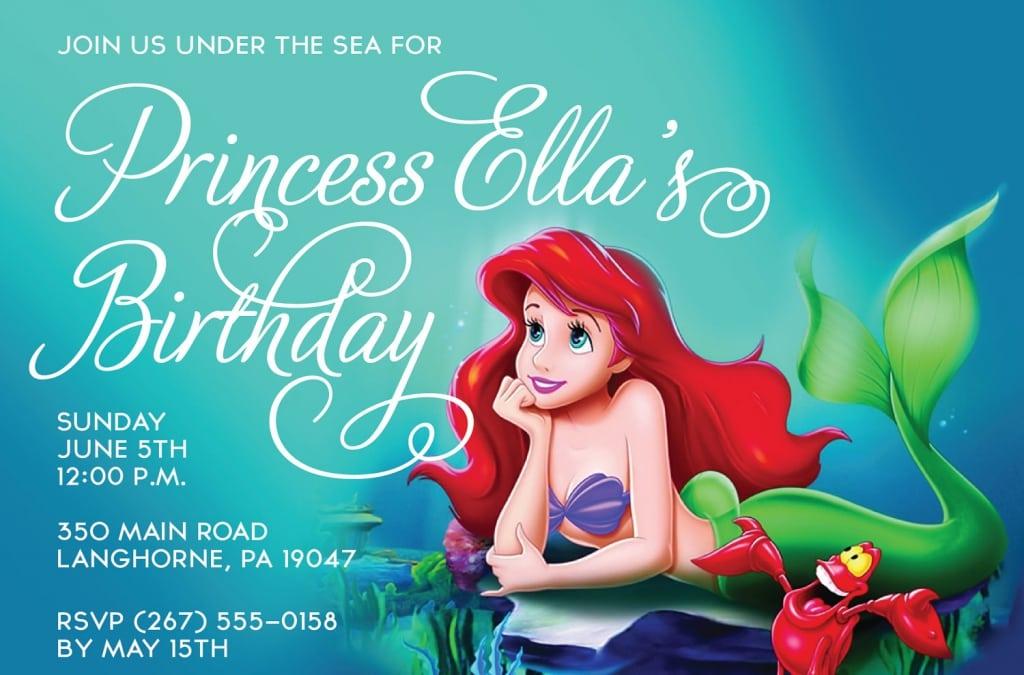 Little Mermaid Free Invitations