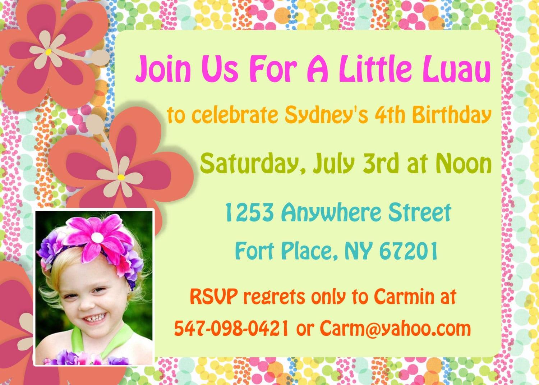 Luau Invites as perfect invitations example