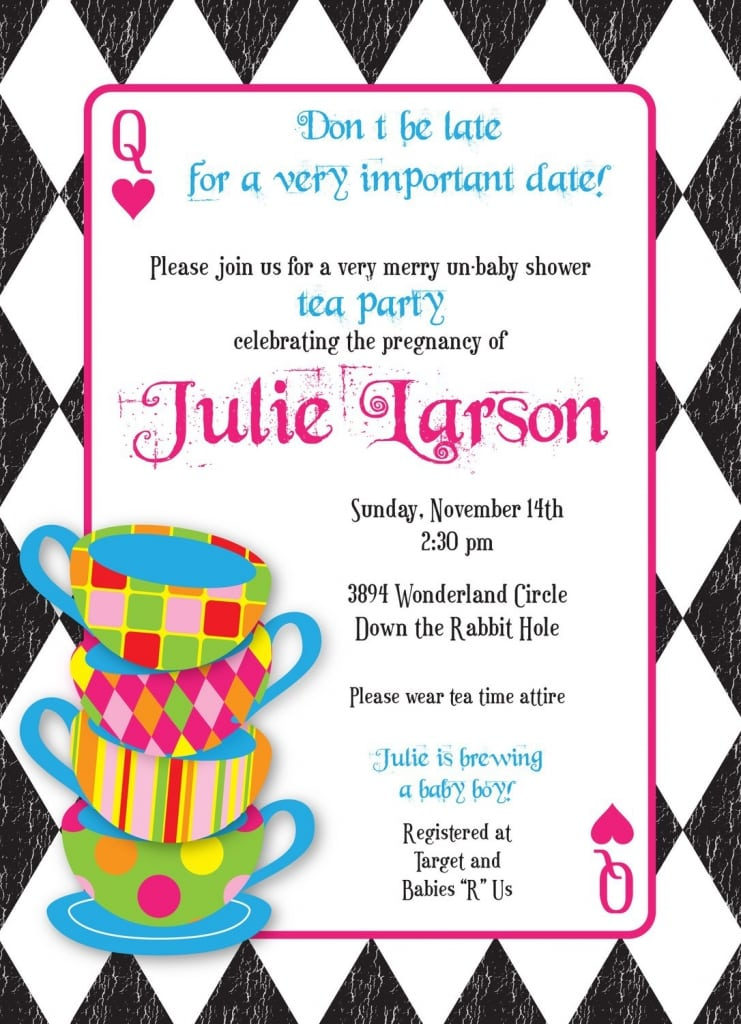 Mad Hatter Tea Party Invitations Templates Free