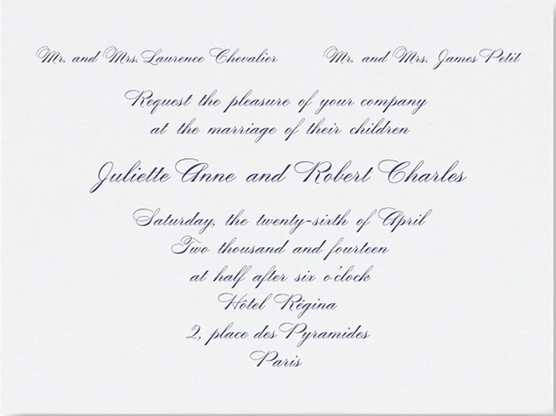 Marriage Invitation Format For Email