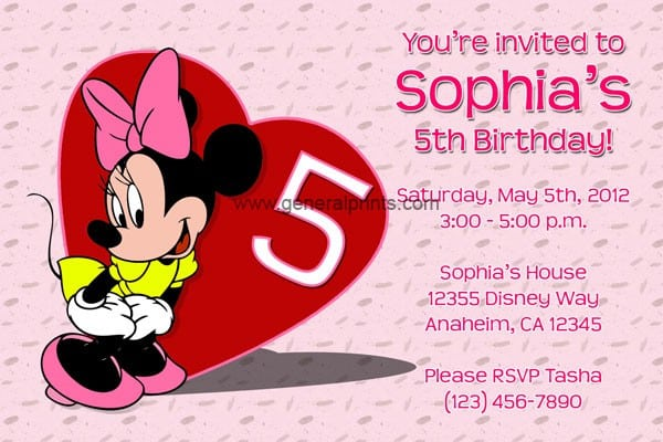 Mickey And Minnie Mouse Free Printable Invitations 3