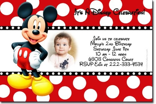 Mickey Mouse Baptismal Invitation 4