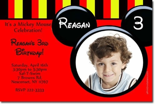 Mickey Mouse Baptismal Invitation 5