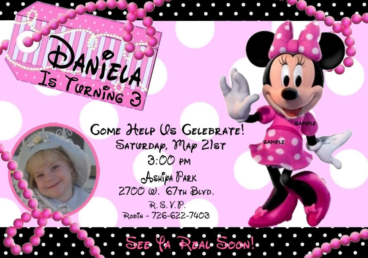 Mickey Mouse Baptismal Invitation