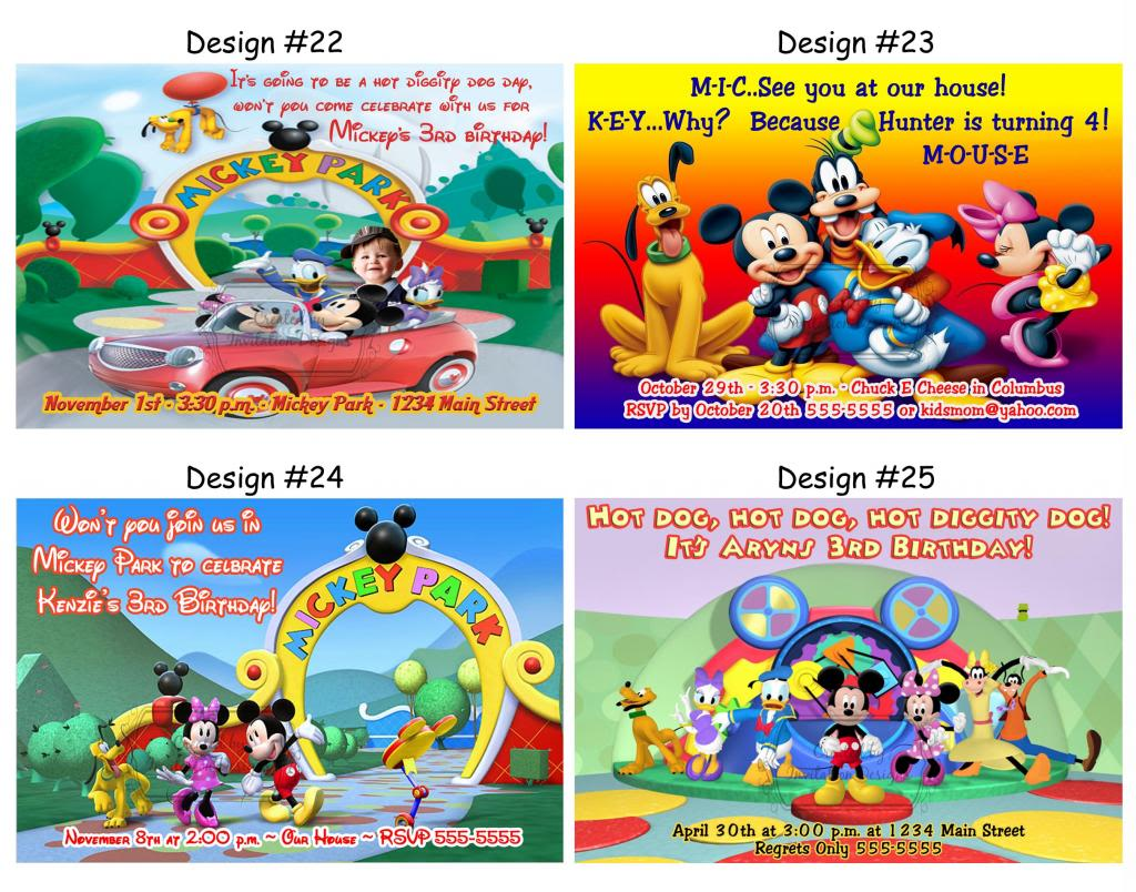 Mickey Mouse Clubhouse Invitation Template