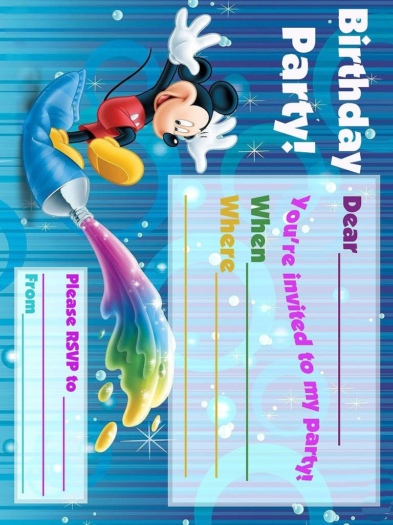 Mickey Mouse Clubhouse Birthday Party Invitation Free Template 2016
