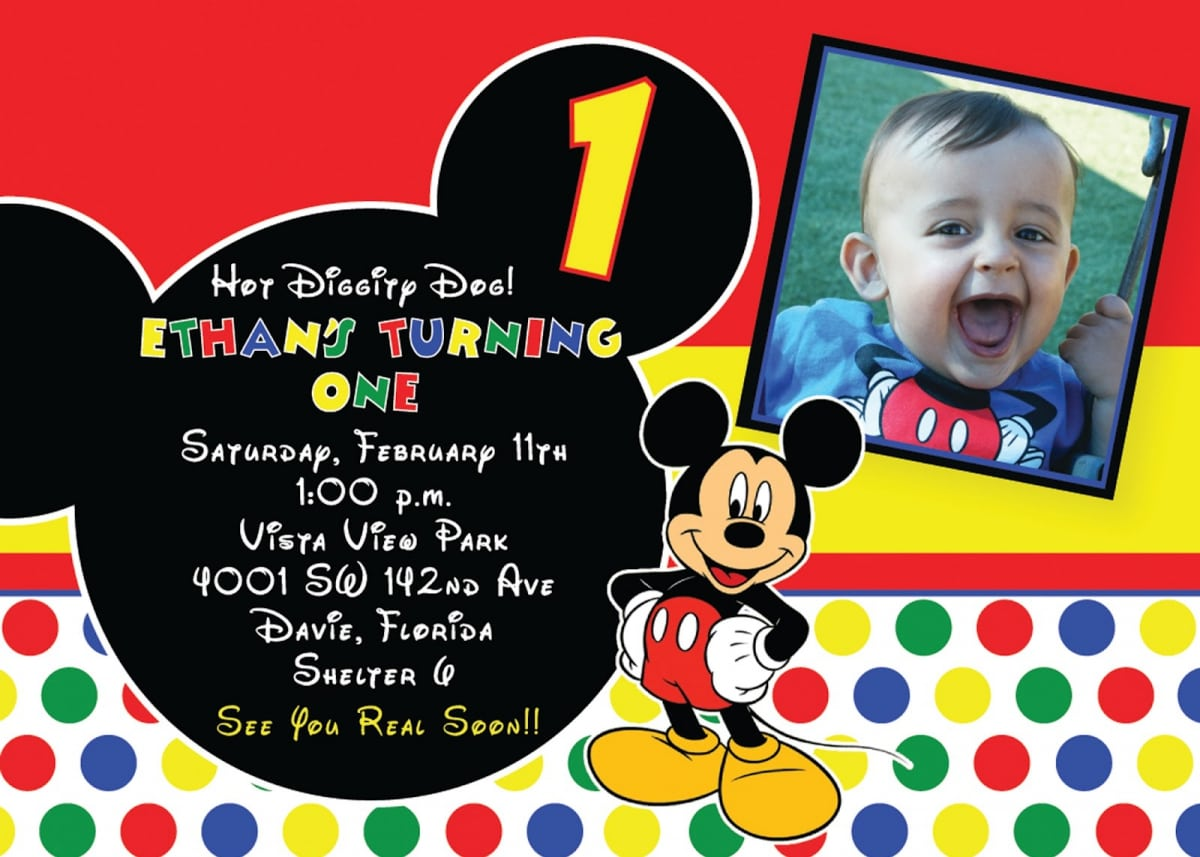 Mickey Mouse Clubhouse Birthday Party Invitation Ideas