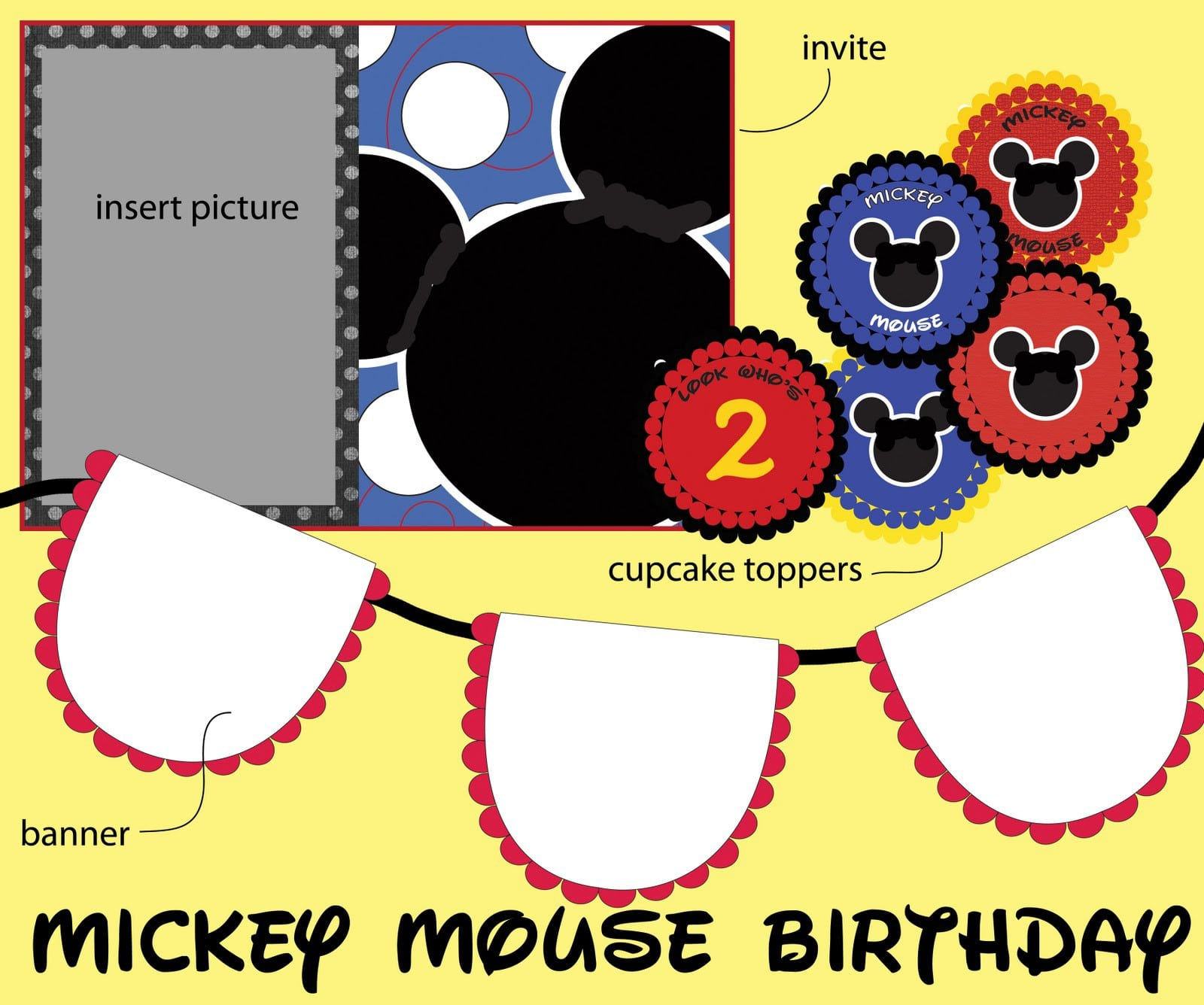Mickey Mouse Clubhouse Invite Template 3