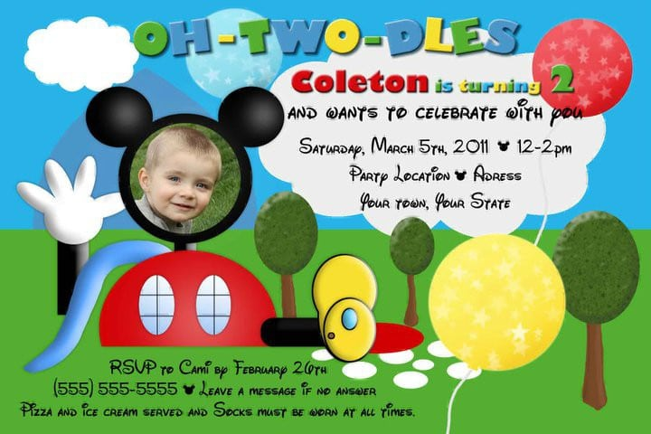 Mickey Mouse Clubhouse Invite Template 4