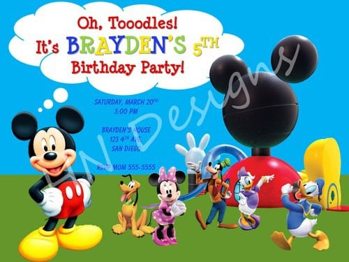 Mickey Mouse Clubhouse Invite Template