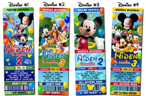 Mickey Mouse Clubhouse Party Invitations Printable 3