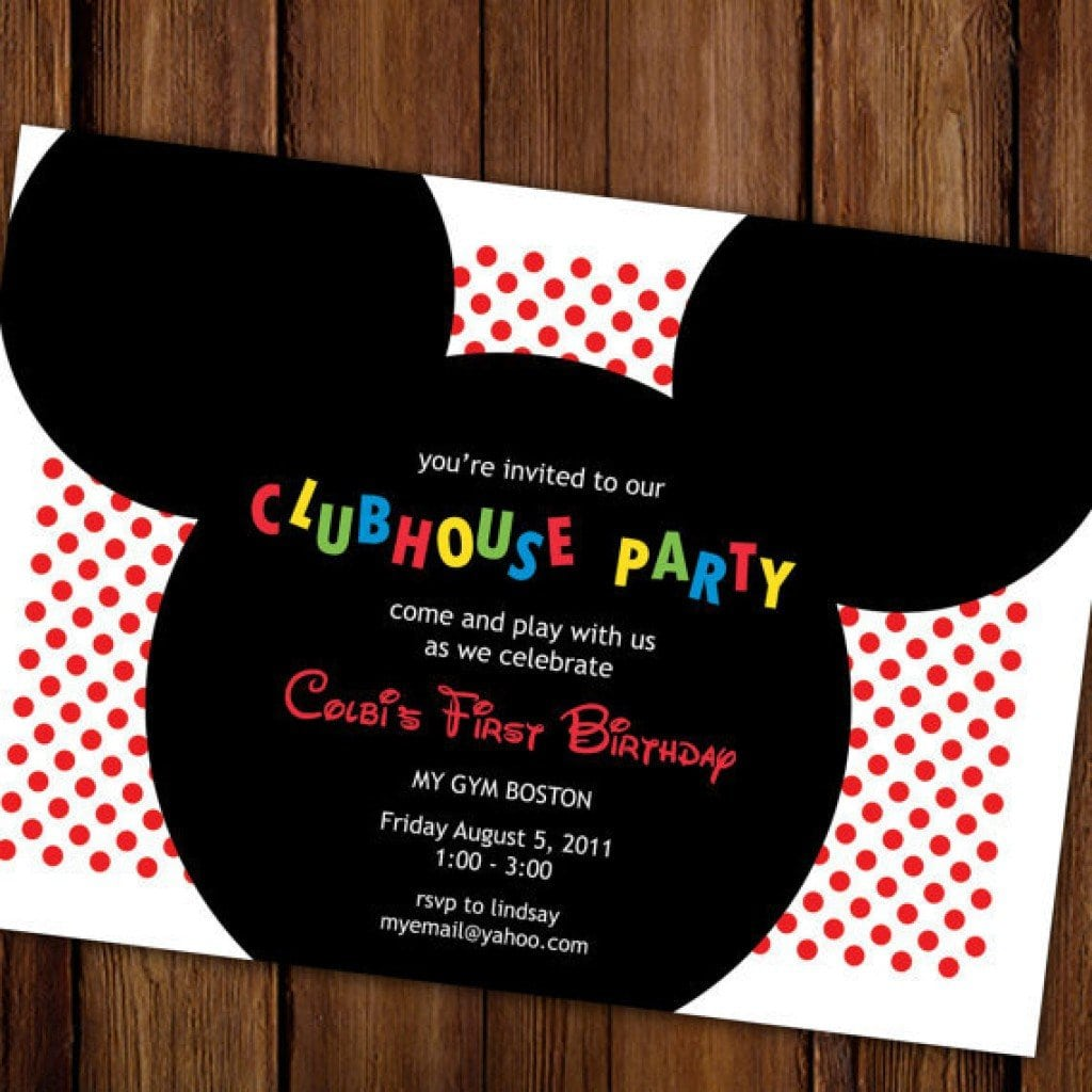 Mickey Mouse Clubhouse Party Invitations Printable Free 3