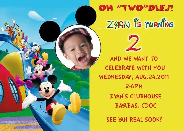 Mickey Mouse Clubhouse Party Invitations Printable Free 5