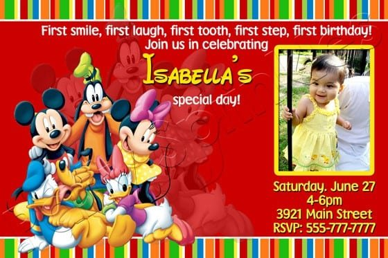 Mickey Mouse Clubhouse Printable Invitation Template 2016
