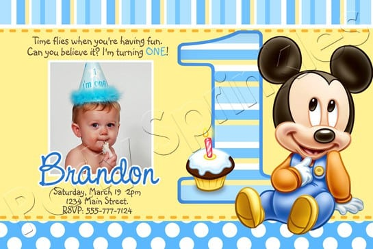 Mickey Mouse Clubhouse Printable Invitations Template 2016