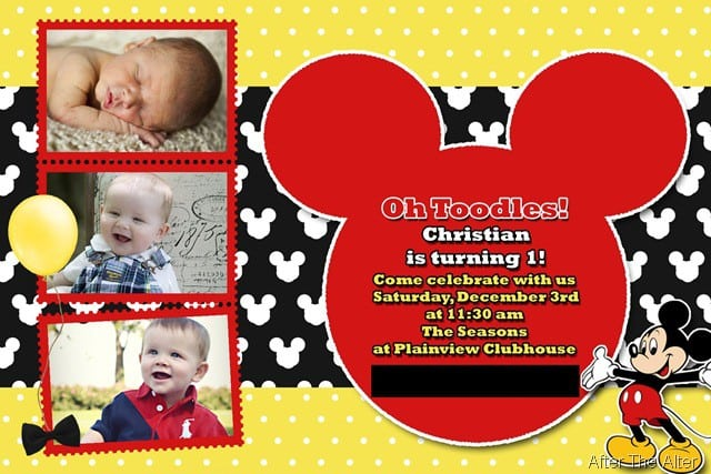 Mickey Mouse Clubhouse Sample Invitation 2