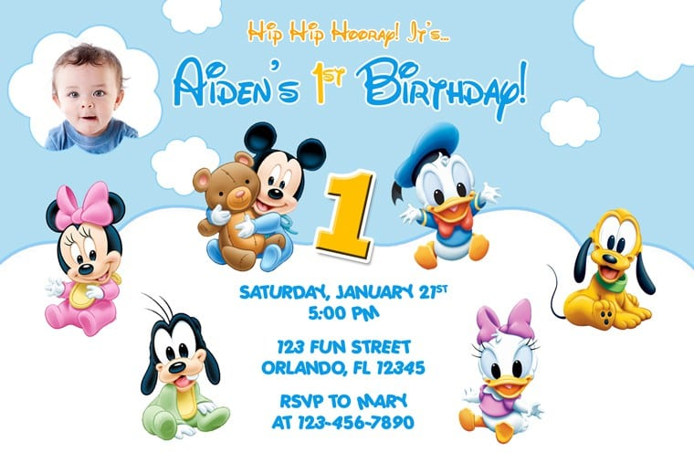 Mickey Mouse Clubhouse Sample Invitation 3