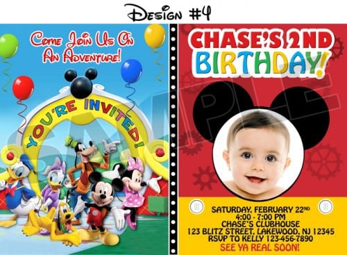 Mickey Mouse Clubhouse Sample Invitation 4