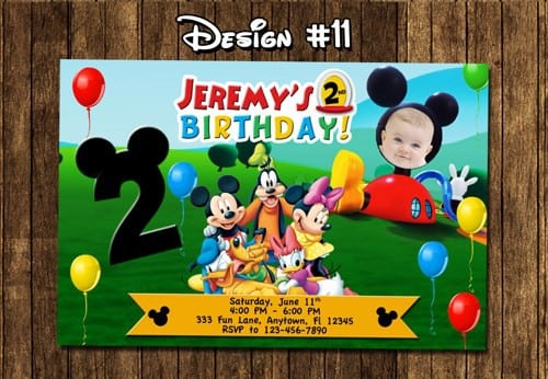 Mickey Mouse Clubhouse Sample Invitation 5