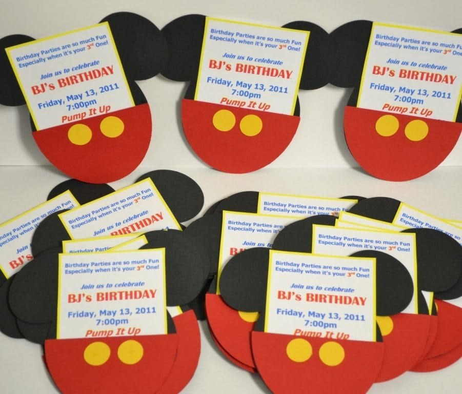 Mickey Mouse Clubhouse Ticket Invitations Free Template 2