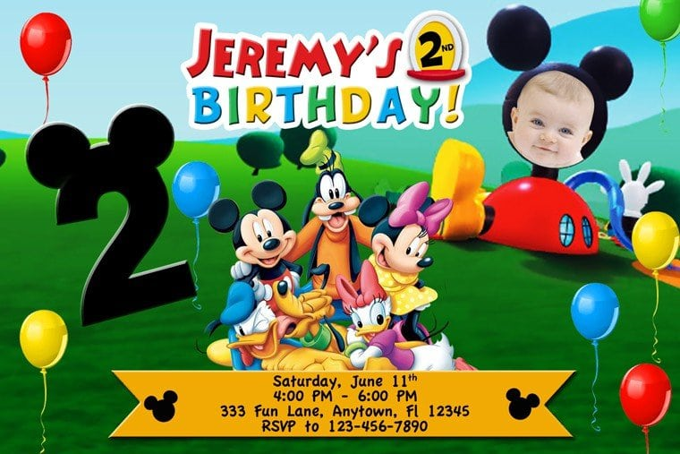 Mickey Mouse Clubhouse Ticket Invitations Free Template 5