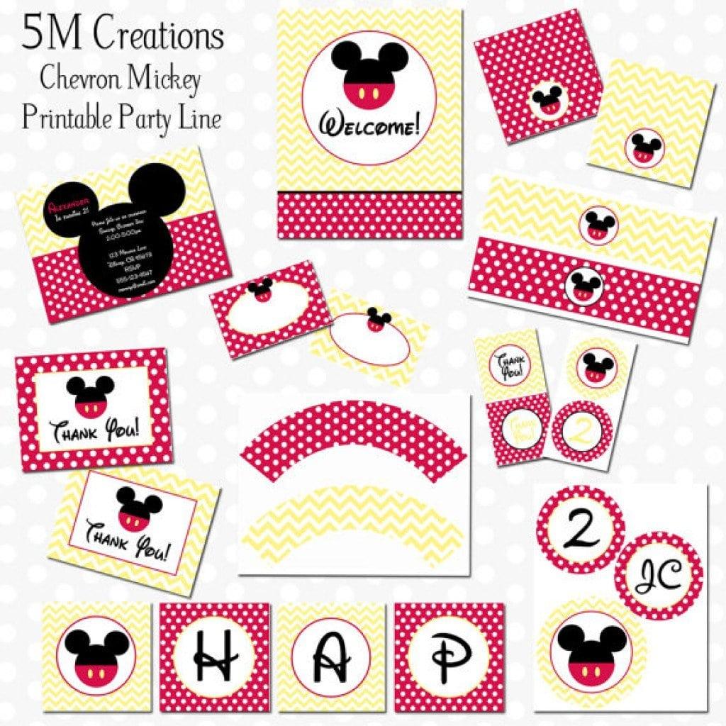Mickey Mouse Free Birthday Invitations 3