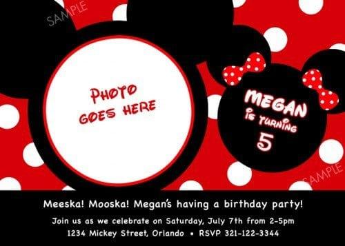 Mickey Mouse Free Birthday Invitations 5