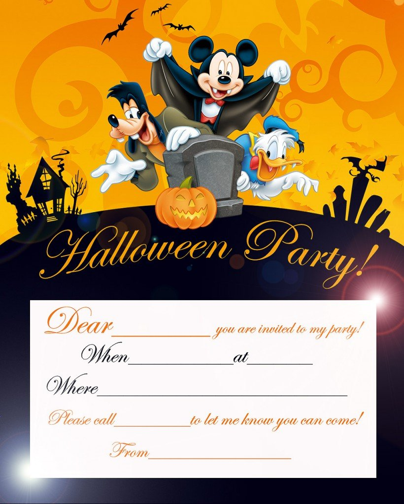 Mickey Mouse Halloween Party Invitations