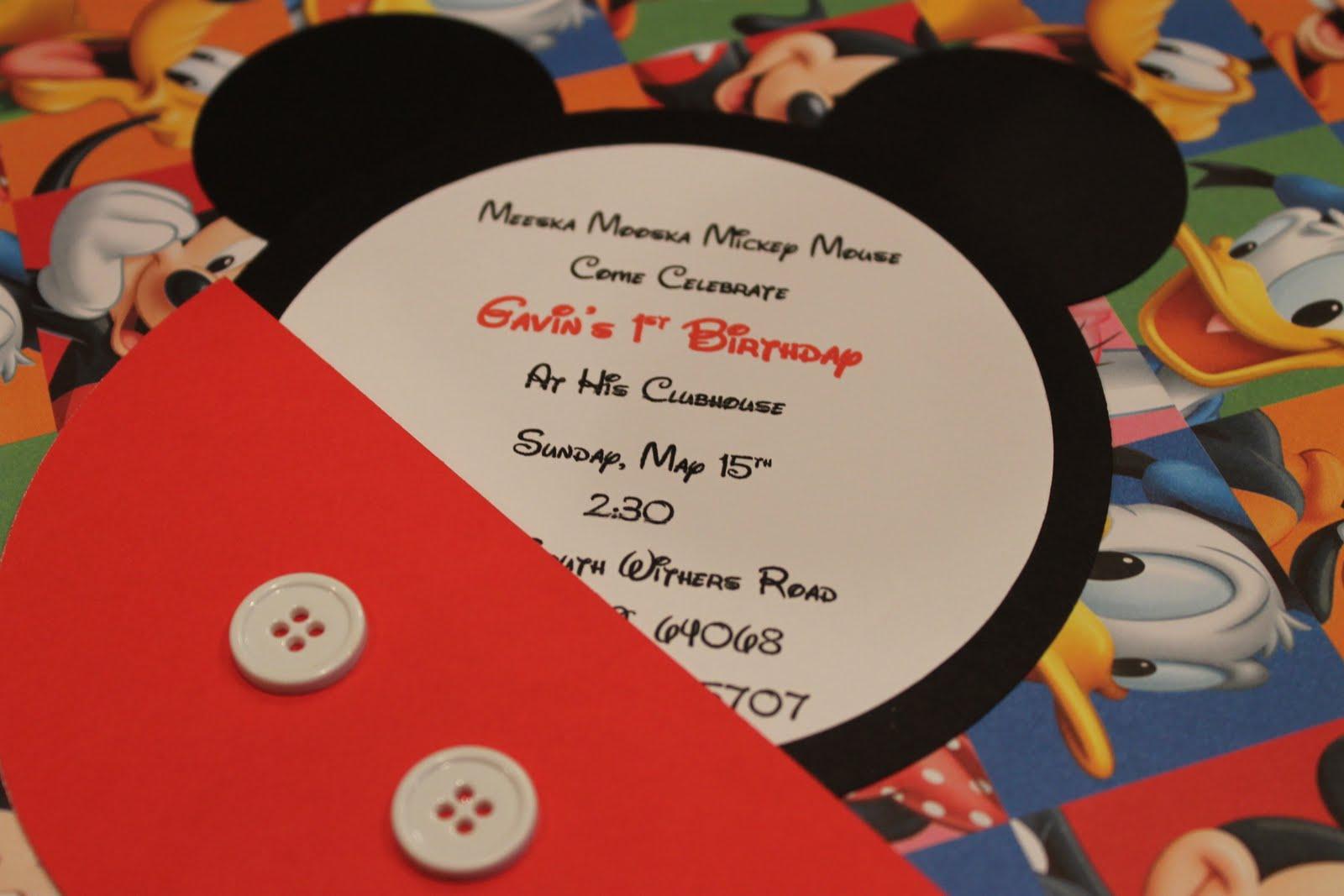 Mickey Mouse Head Invitation Template