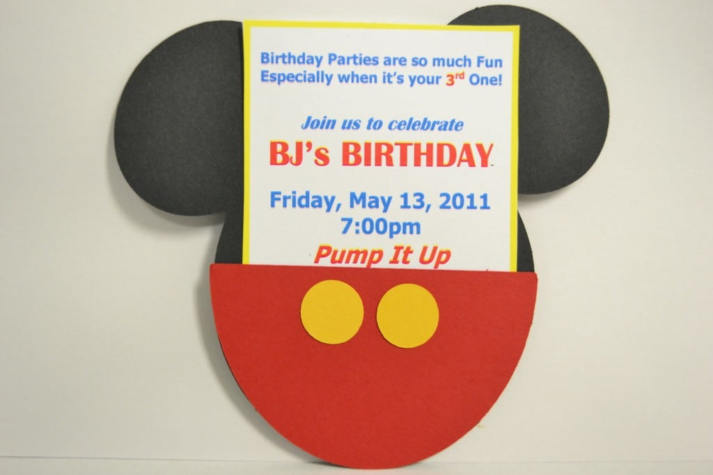 Mickey Mouse Invitation Free Template 4