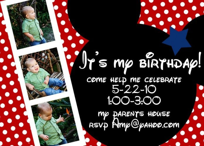 Mickey Mouse Invitation Free Template