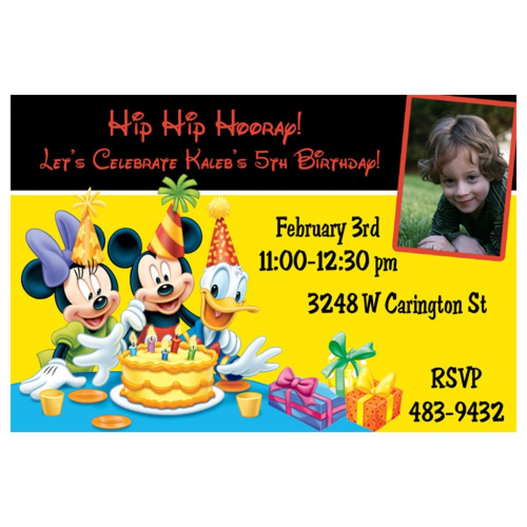 Mickey Mouse Party Free Invitation To Print 4
