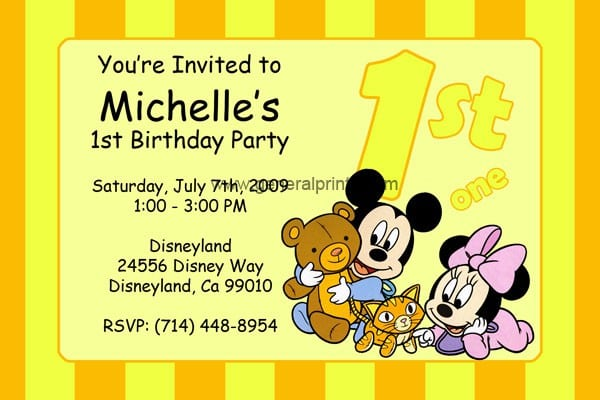 Mickey Mouse Party Free Invitation To Print