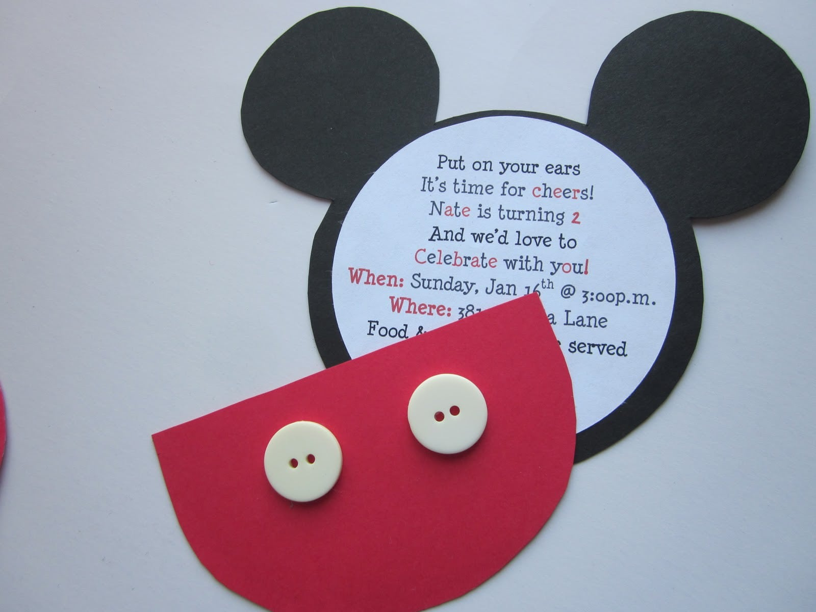 Mickey Mouse Template Birthday Invitation 4