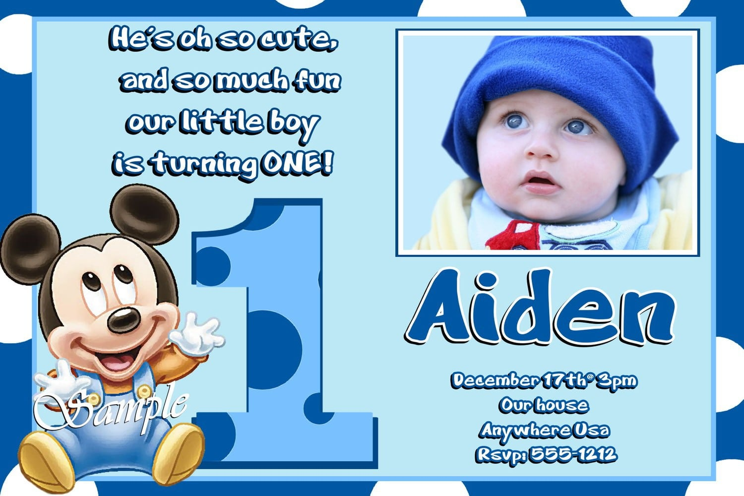 Micky Mouse Invite Printable Templates 3