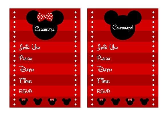 Minnie Invitation Template 2