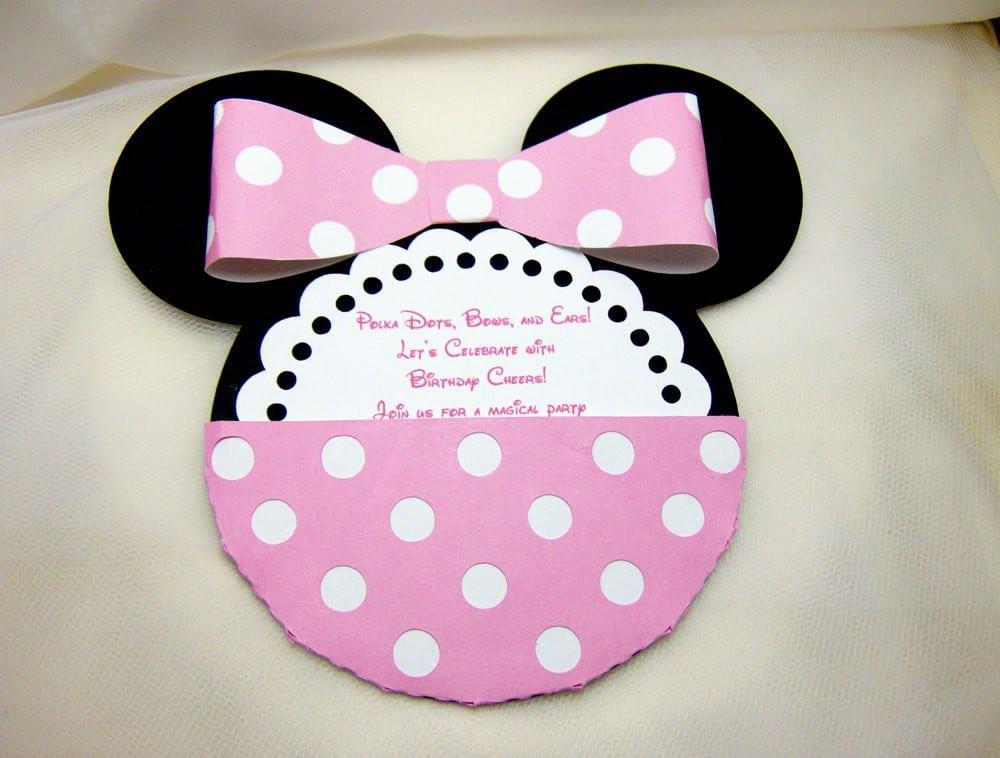 Minnie Invitation Template 3