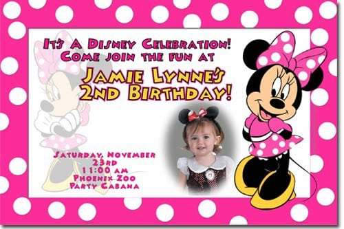 Minnie Mouse Baptism Invitations 3