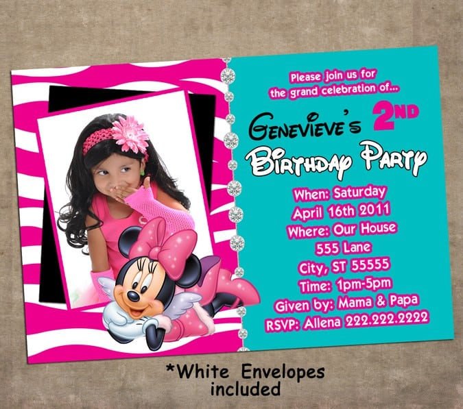 Minnie Mouse Baptism Invitations 4