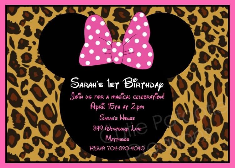 Minnie Mouse Birthday Invitations Free Printable