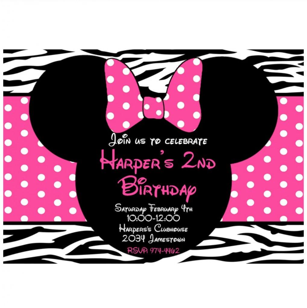 Minnie Mouse Birthday Invitations Free Printables 4