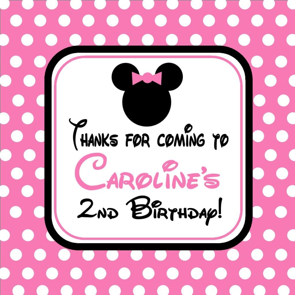 Minnie Mouse Birthday Invitations Free Printables 5