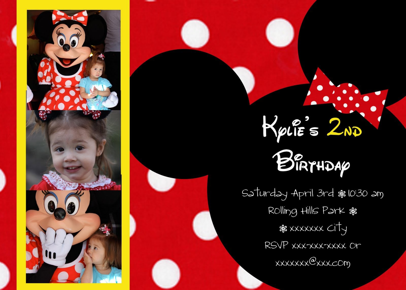 Minnie Mouse Birthday Invitations Free Templates 3