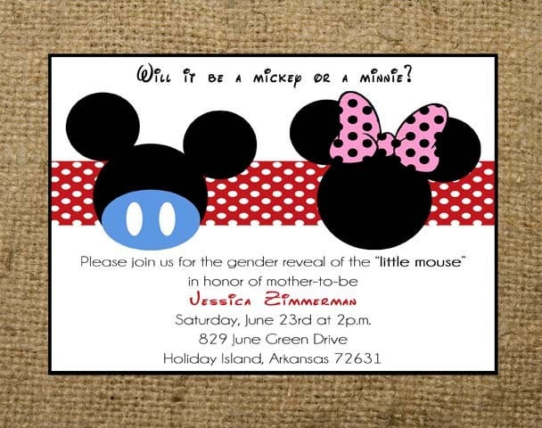 Minnie Mouse Birthday Invitations Free Templates